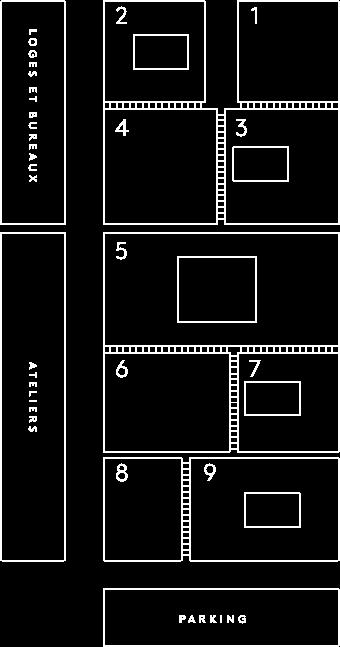 Plan des studios de Paris